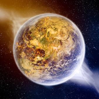 Planeet explosie apocalyps