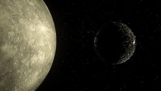 Planeet in diepe ruimte