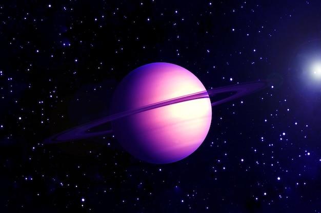Planeet saturnus, in roze. elementen van deze afbeelding zijn geleverd door nasa. voor welk doel dan ook.