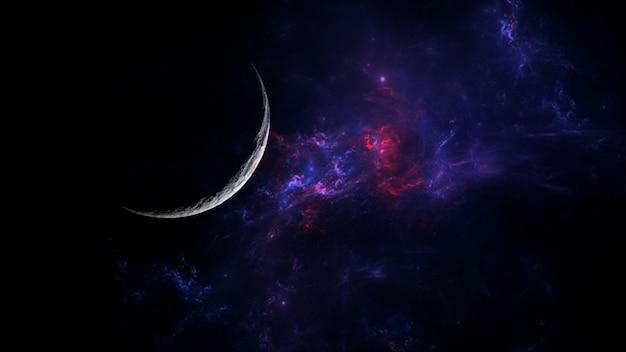Planeten en melkweg science fiction behang astronomie is de wetenschappelijke studie van het universum