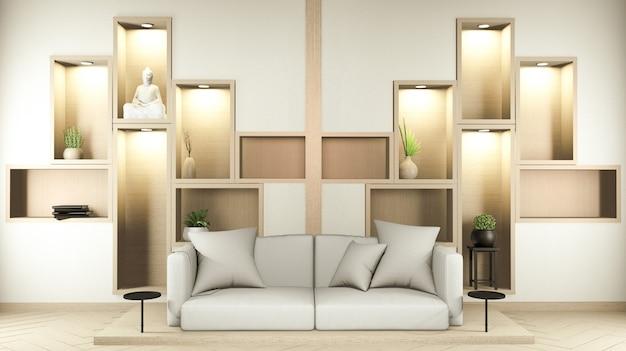 Plank muur kamer zen stijl en decoraion houten design, aardetoon