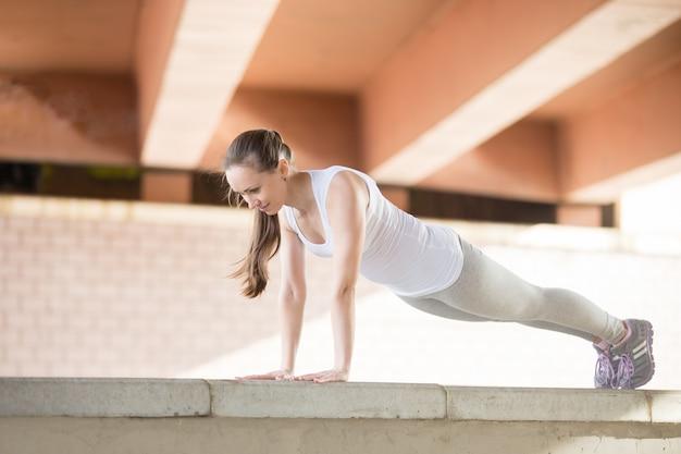 Plank yoga pose