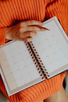 Plannen in een agenda