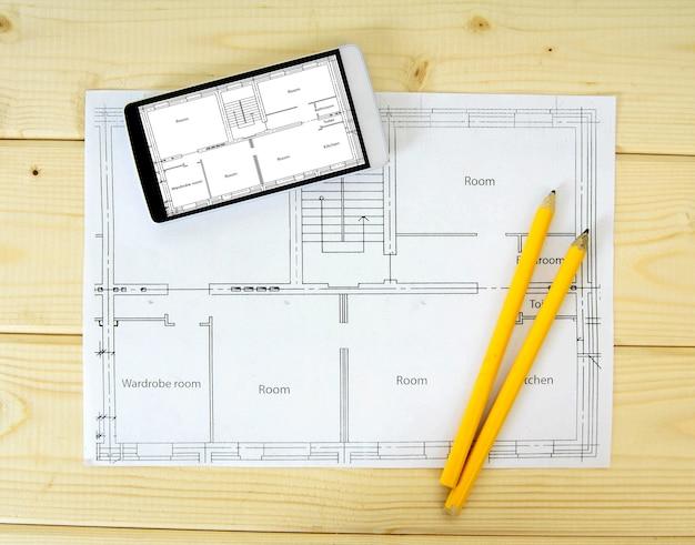 Planning van de bouw van het huis