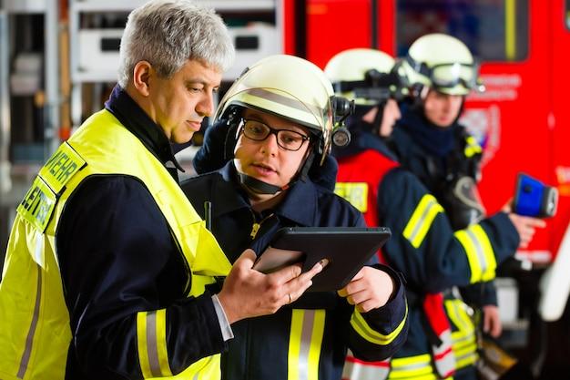 Planning van de inzet van de brandweer op de computer