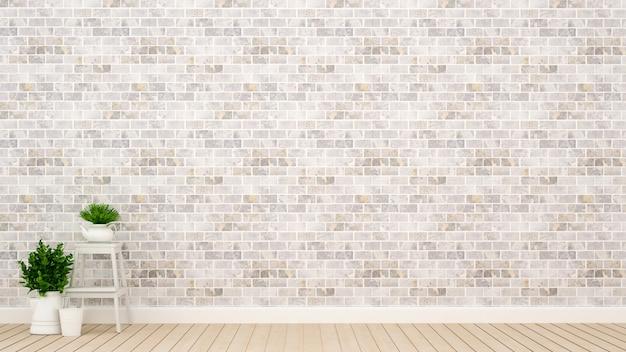 Plant en bakstenen muur