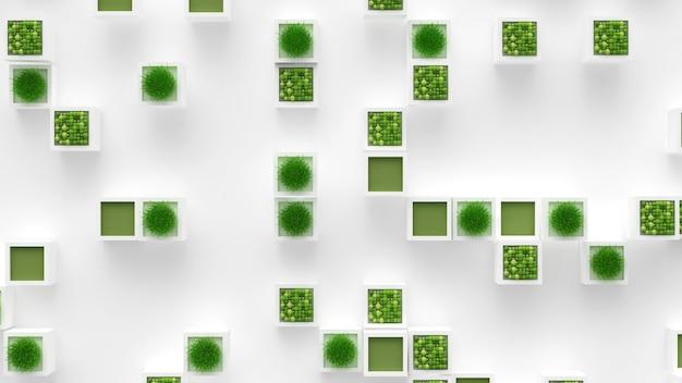 Plant groen concept. 3d-afbeelding, 3d-rendering.