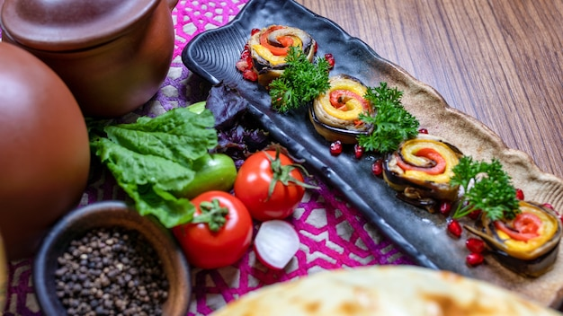 Plantaardige biologische snack close-up