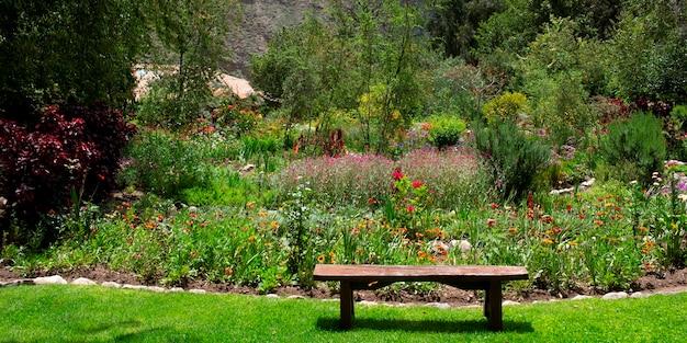Planten in een tuin, willka tika, heilige vallei, cusco gewest, peru