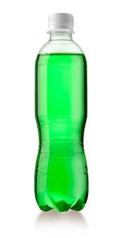 Plastic fles met een drankje