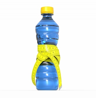 Plastic fles met meter, dieet