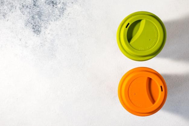 Plastic glazen voor warme dranken
