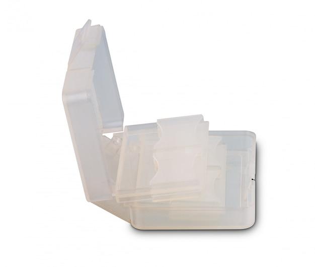 Plastic hoes voor sd-kaartopslag