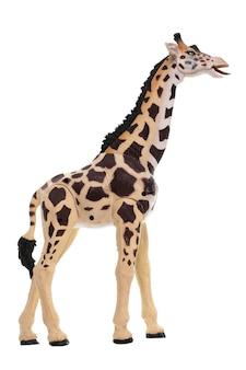 Plastic speelgoed giraf geïsoleerd op witte achtergrond