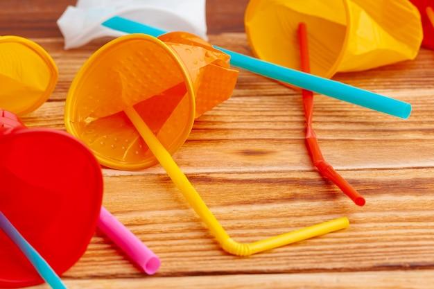 Plastic voorwerpen, afval recyclen