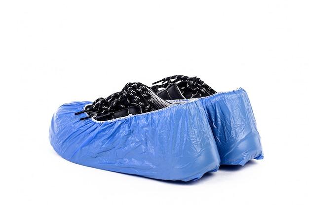 Plastic zakje voor schoen ter bescherming tegen coronavirus