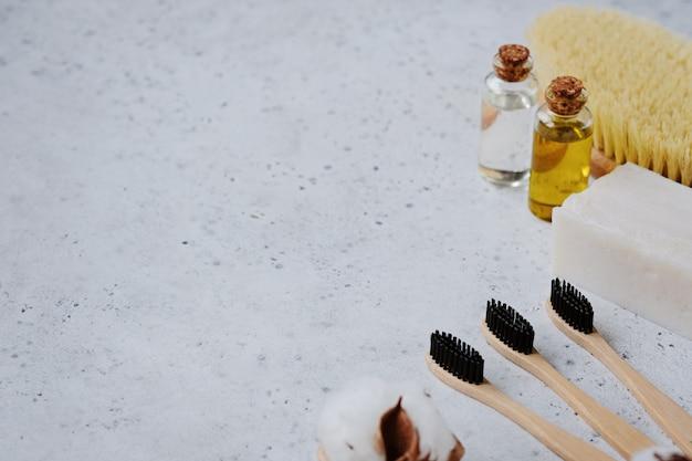 Plasticvrije producten en bamboetandenborstel