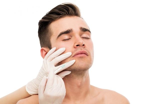 Plastische chirurgie. aantrekkelijke, knappe man