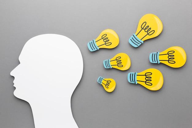 Plat lag abstract assortiment met innovatie-elementen