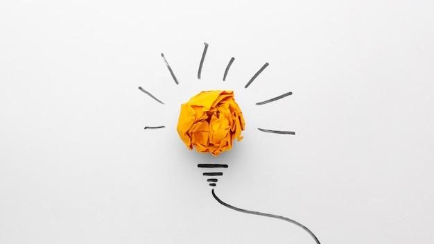Plat lag abstracte compositie met innovatie-elementen