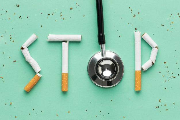 Plat lag assortiment van dagelementen zonder tabak