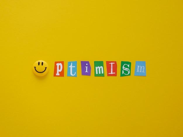 Plat lag assortiment van optimisme conceptelementen
