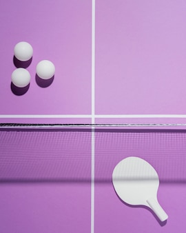 Plat lag badmintonballen arrangement