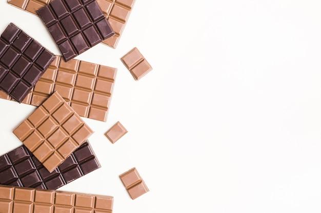 Plat lag chocoladekader met exemplaar-ruimte
