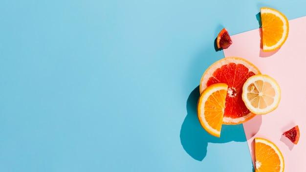 Plat lag citrus arrangement