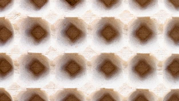 Plat lag eierdoos close-up
