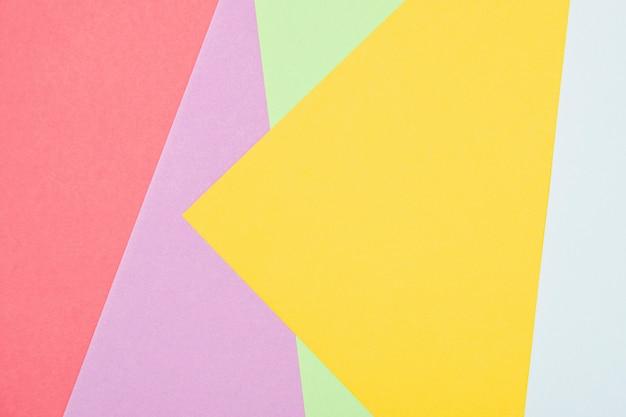 Plat lag kleurrijke vormen