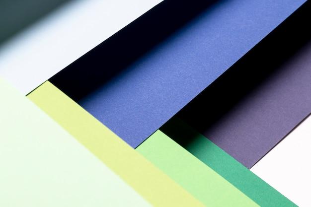 Plat lag koele kleuren patroon