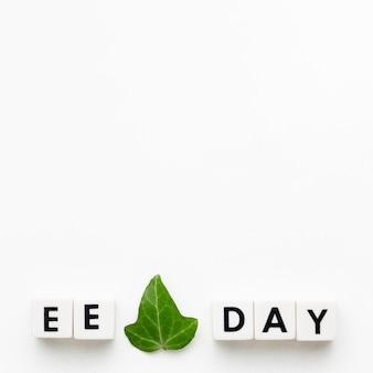 Plat lag milieu onderwijs dag concept