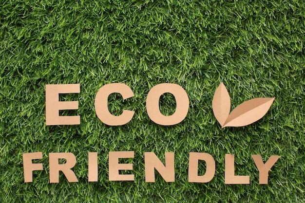 Plat lag milieuvriendelijk teken