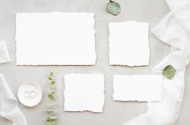 Plat lag minimalistische bruiloft uitnodiging