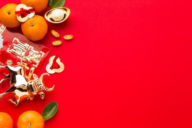 Plat lag nieuwjaar chinees 2021 heerlijke citrus en os