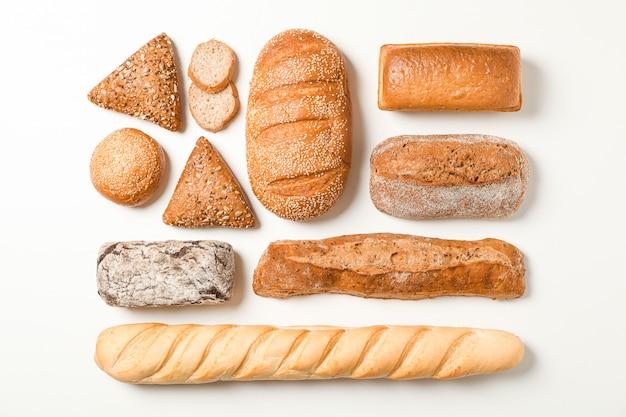 Plat lag samenstelling met bakkerijproducten ruimte voor tekst