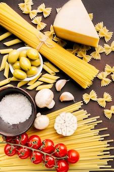 Plat lag samenstelling van italiaans eten
