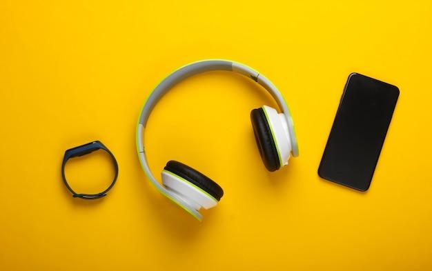 Plat lag samenstelling van moderne gadgets