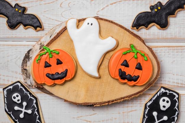 Plat lag traktaties voor halloween