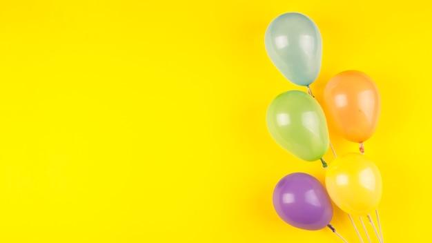 Plat lag verjaardagssamenstelling met copyspace