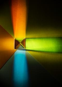 Plat leggen abstract licht prisma effect