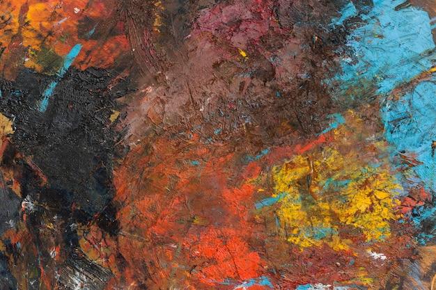 Plat leggen artistieke kopie ruimte abstracte schilderkunst