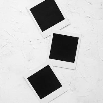Plat leggen fotocollectie op tafel