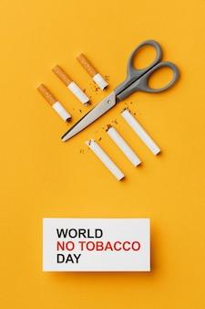 Plat leggen geen tabak dagelementen arrangement