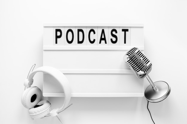 Plat leggen podcast items arrangement