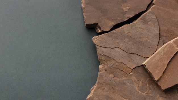 Plat leggen stenen collectie met kopie ruimte