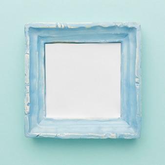 Plat leggen van blauw frame concept