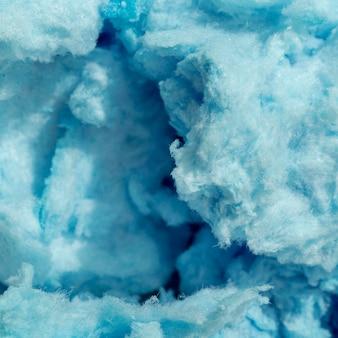 Plat leggen van blauwe suikerspin