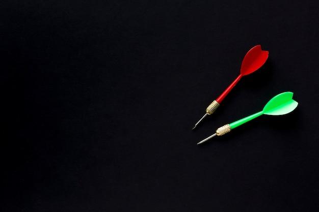 Plat leggen van darts met kopie ruimte